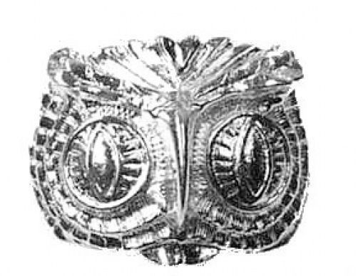 NICE Sterling Silver 925 Big Heavy Owl Face Head Ring Detailed 13 grams Bird Jew