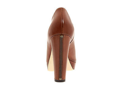 $348 Cole Haan Nike Air Brown Leather Bootie Ankle High Heel Fashion Boots