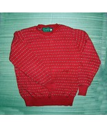 Lake Harmony Rowing Club 100% ALL COTTON Red Sweater size M  - $5.00
