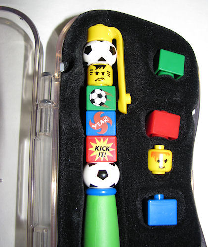 Adorable Lego Writing Systems Soccer Ink Pen - Needs Ink Refill