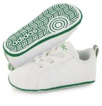 ADIDAS AW4092 Kids' Vs Advantage (Infant/Toddler) Crib Shoe, White/Green... - $59.97