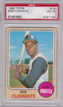 Bob Clemente 1968 Topps #150 Baseball Card PSA 4 VG-EX - $69.00