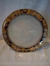 Vtg Hand-painted Noritake Art Deco Heavy Gold Trim Black Iridescent Cake Plate - $18.99