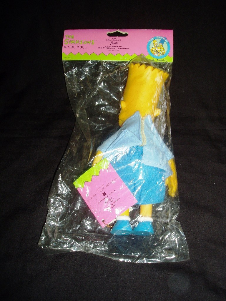 "1990 Bart Simpson 9"" Vinyl Doll! Mint In Factory Sealed Package!"