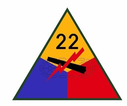 22nd Armored Division Sticker Military Decal M368  - $1.45 - $9.45