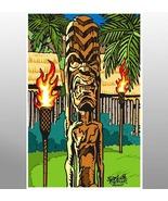 """""""Lahaina Tiki Man""""  ( Sci-Fi & Comics Art ) - $25.00"""