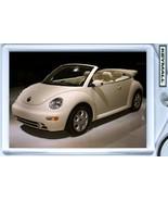 KEY CHAIN BEIGE VANILLA CREAM VW NEW BEETLE CON... - $9.95