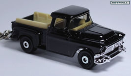 KEY CHAIN 1956/1957/1958 BLACK GMC STEPSIDE PIC... - $33.95
