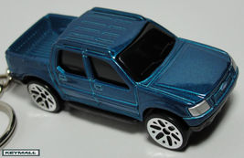 RARE KEY CHAIN BLUISH GREEN FORD EXPLORER SPORT TRAC TRUCK 4X4 BLUE PORT... - $22.95