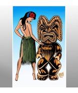"""Tiki man and Wahine""  ( Tiki & Comics Art ) - $25.00"