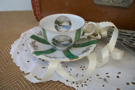 Antique Teacup and Saucer Souvenir Niagara Falls 1910's made in Bavaria - $36.50