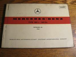 Mercedes-Benz Type 180 c Dc Parts Catalog Manual 1961 1962  W120 - $81.18