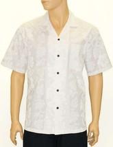 "Casual Wedding White Aloha Short Sleeve Shirt ""Hibiscus Leis"" Hawaiian P... - $49.50+"