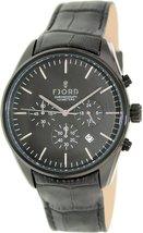 Fjord Men's Agna FJ-3013-03 Black Leather Quartz Watch - $175.57