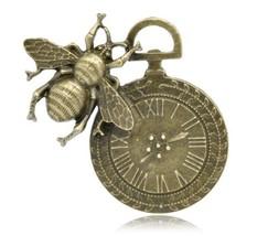 Olivia Pearl Designs Set 3 Large Bronze Tone Bee & Clock Charm Pendant C... - $7.95