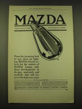 1918 General Electric Mazda light bulb Ad - From the incoming host of new ideas  - $14.99