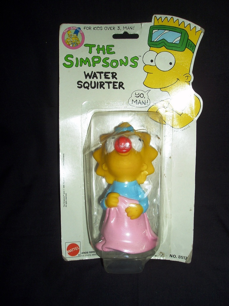 1990 The Simpsons Maggie Water Squirter! New In Original Sealed Package!