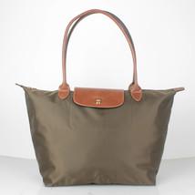 France Made Longchamp Le Pliage Large Nylon Tote Bag Taupe 1899089015 Au... - $75.00