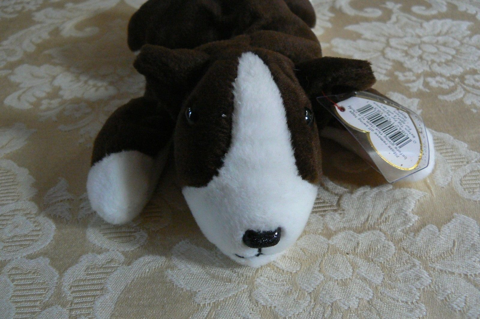 "Rare TY Original Beanie Babies "" Bruno "" The Dog Errors- #4183-Retired-Error"