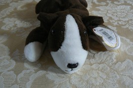 "Rare TY Original Beanie Babies "" Bruno "" The Dog Errors- #4183-Retired-Error image 1"