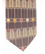 Frank Lloyd Wright Tree Of Life Silk Neck Tie Handmade BLACK - $19.99