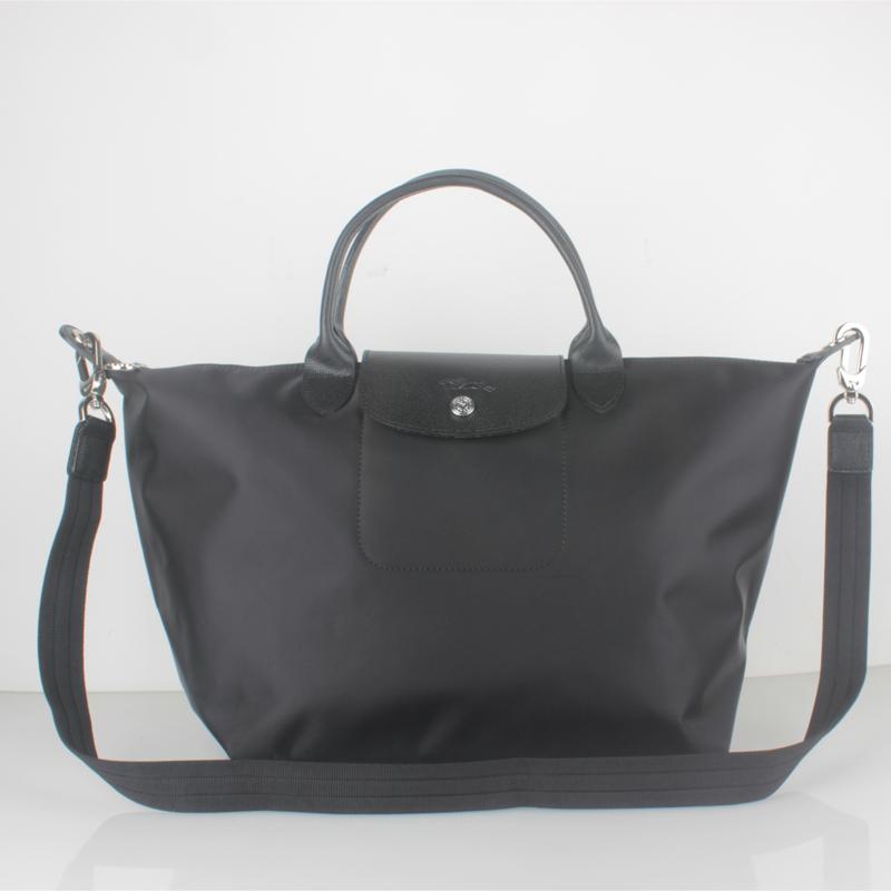 94c4e84585f8 1515. 1515. France Made Longchamp Le Pliage Neo Medium Handbag Black  1515578001. France Made Longchamp Le Pliage Neo ...