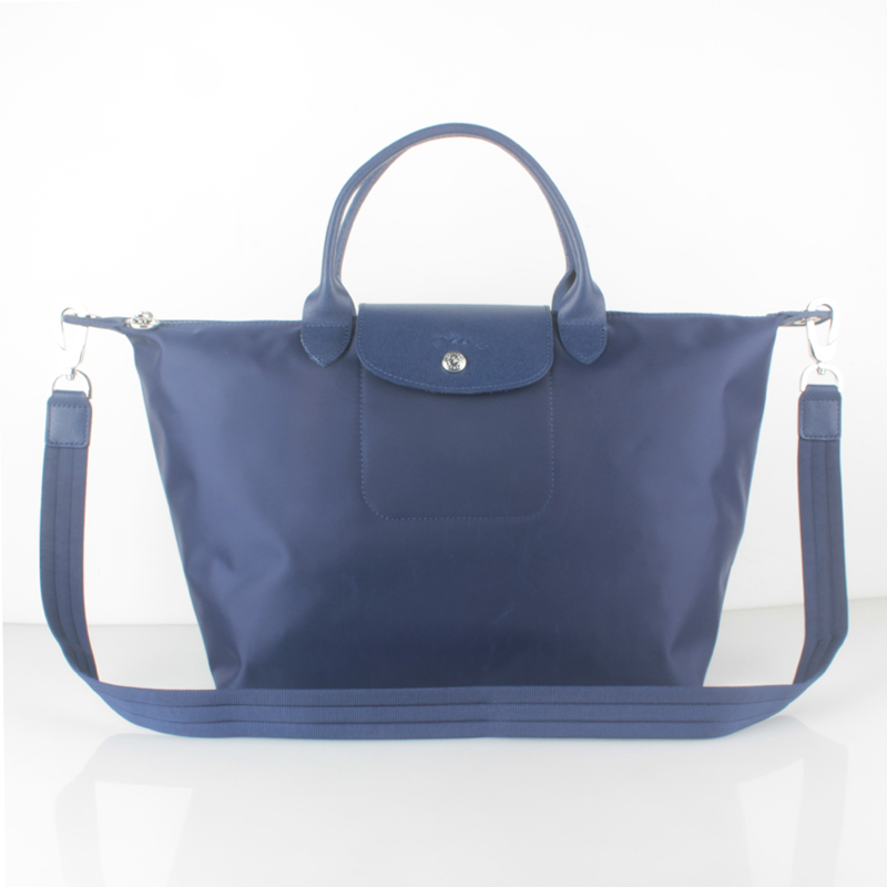 1515. 1515. France Made Longchamp Le Pliage Neo Medium Handbag Navy  1515578556 Auth. France Made Longchamp ... b192c152f9ca8
