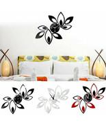 Modern 3D Mirror Lotus Wall Clock Art Acrylic Wall Sticker Decal Home De... - $18.95