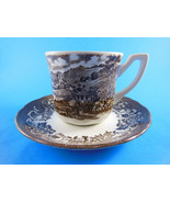 Meakin Royal Staffordshire Stratord Stage Coach Ironstone Cup & Saucer b... - $8.16