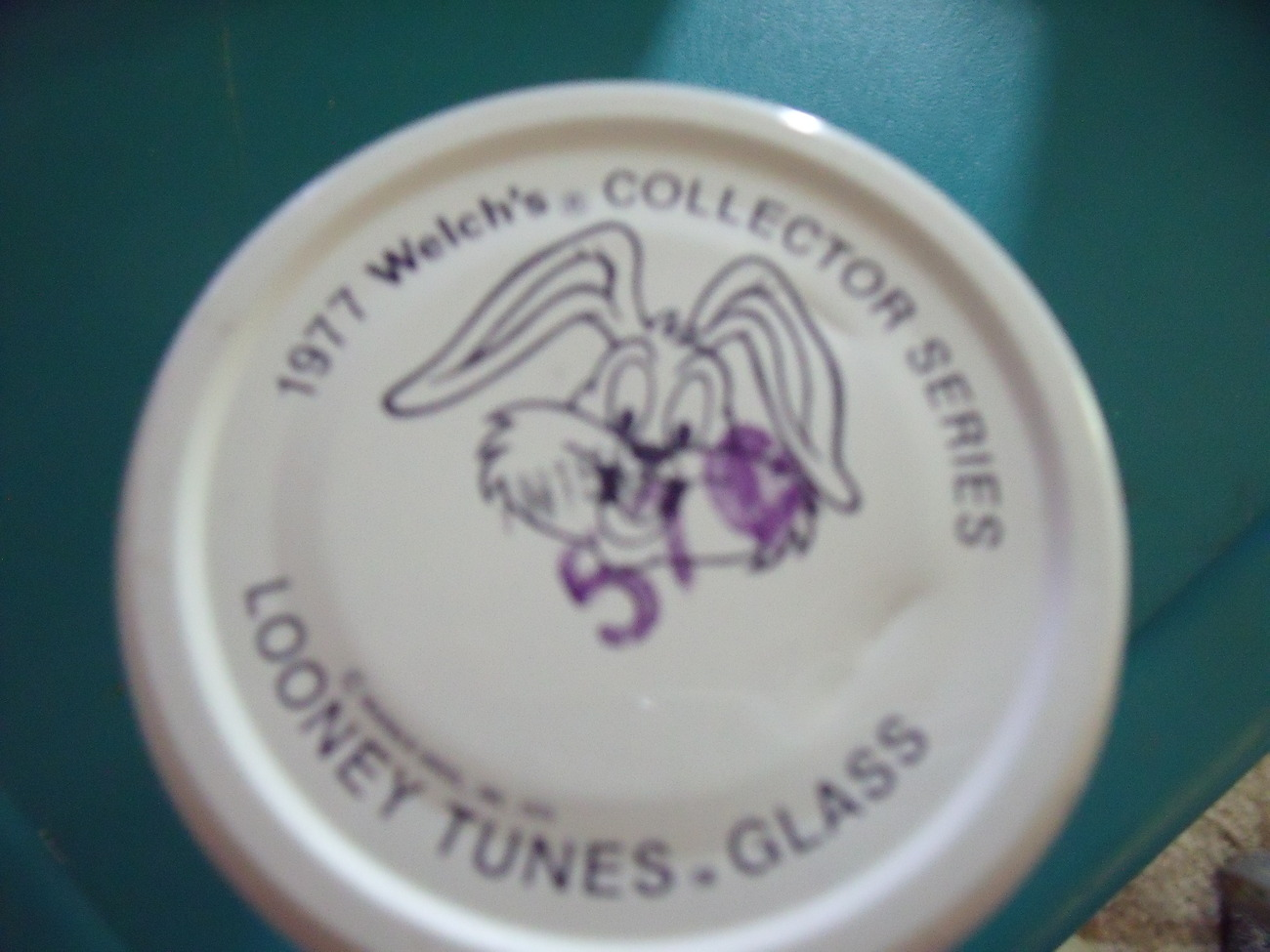 Daffy Duck 1977 Welch's Glass with original label and lid