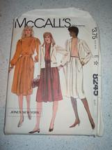 McCall's Misses Size 12 Jacket Blouse & Skirt or Dress Pattern #8245 Uncut - $5.99