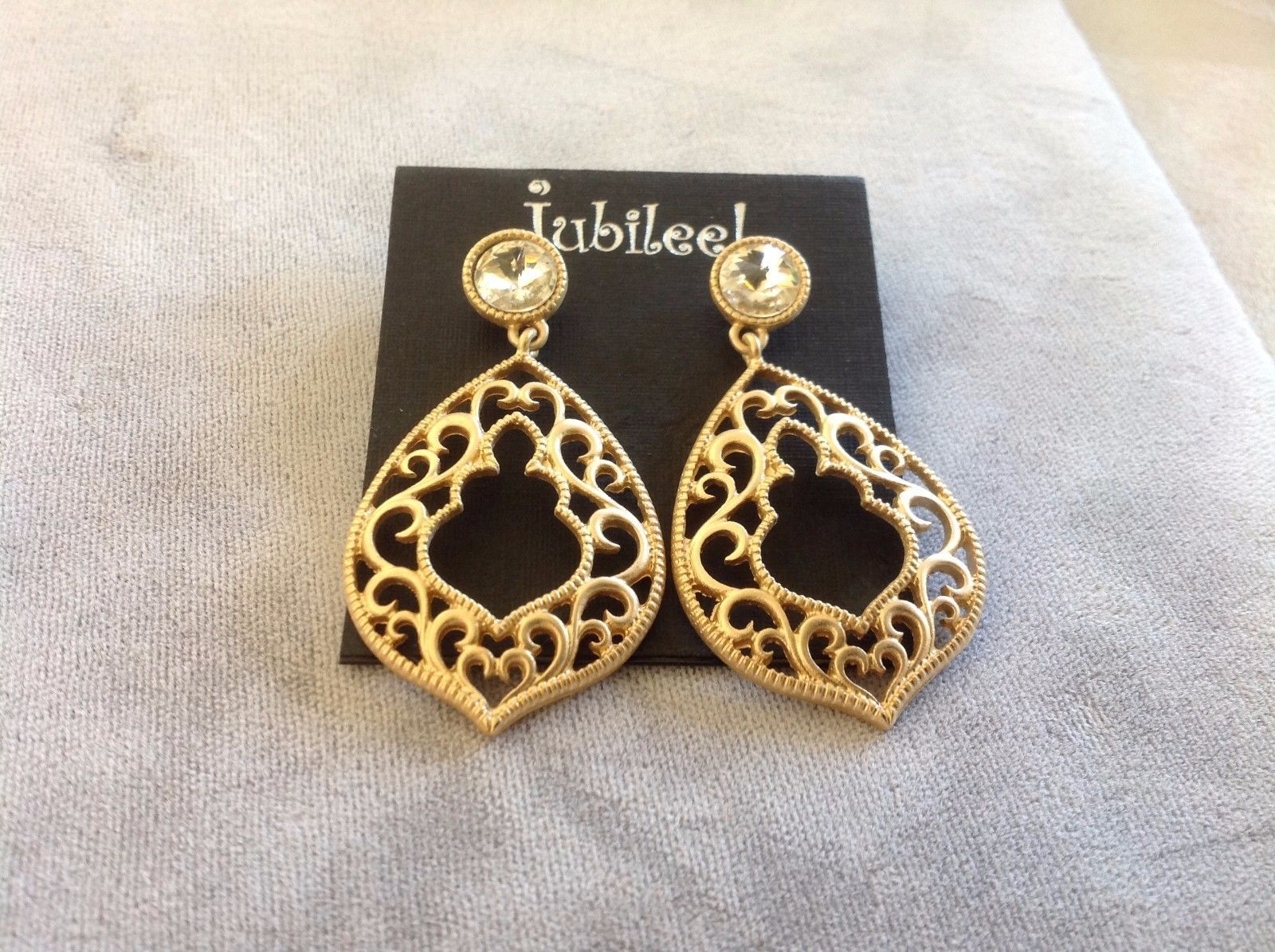 Set Collection of Jubilee! Earrings and Bracelet Gold Toned Simulated Pearls Gem