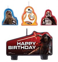 Amscan Star Wars Episode Vll Birthday Candle (Set Of 4), Multicolor - $15.30