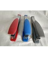 Swingline Handheld Soft Grip Stapler 3 Pack, Red, Blue, Gray, See Notes - $22.70