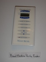 West Bend Bread Maker Machine Touch Control Panel Cover Only for Model 41085 - $10.66
