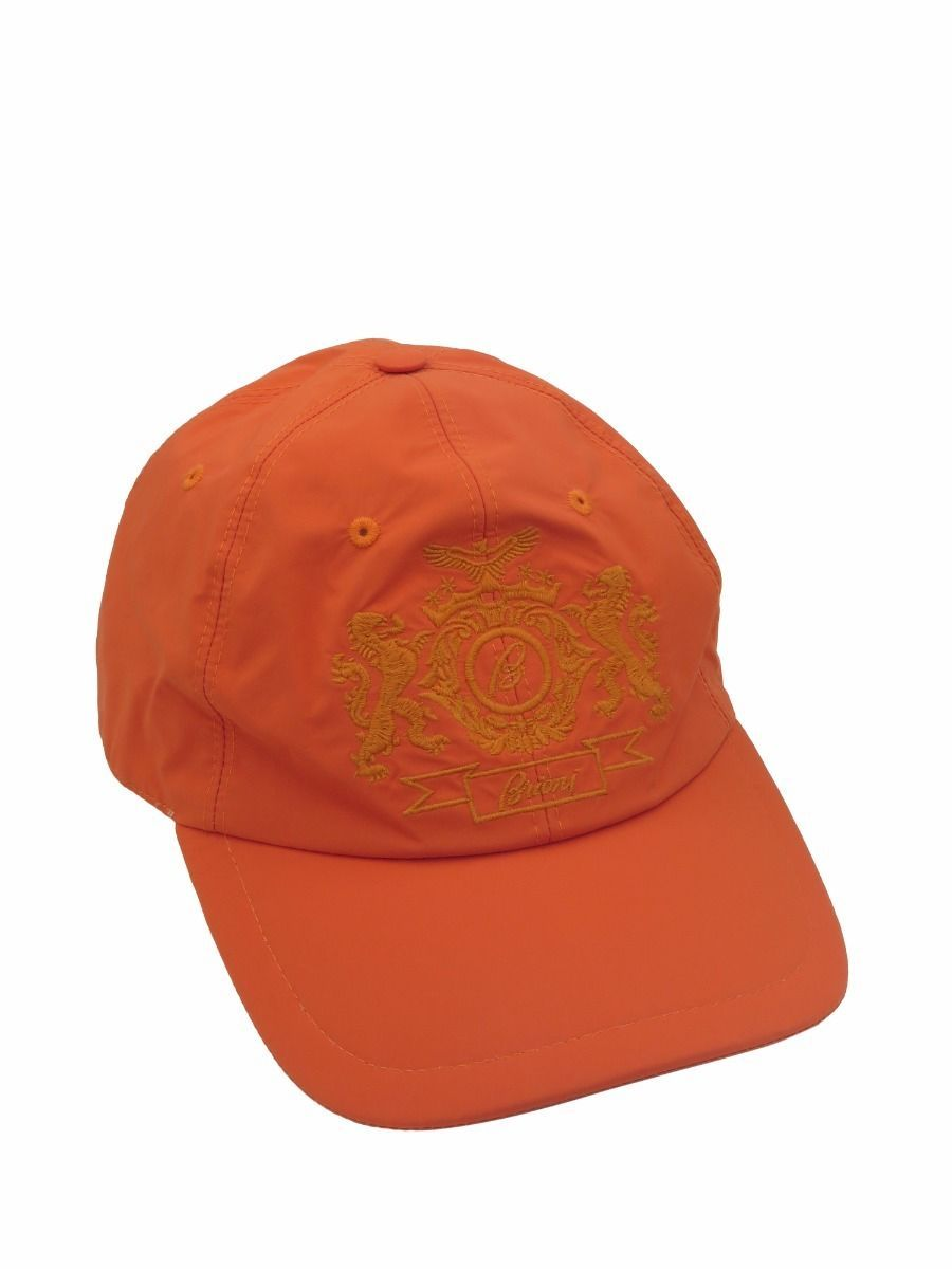 brioni denim brand new baseball cap mens orange cotton hat
