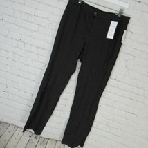 Charter Club Pants Womens Size 12 Black White Check Straight Leg MRSP $70 - $36.48