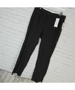 Charter Club Pants Womens Size 12 Black White Check Straight Leg MRSP $70 - $36.48
