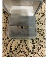 10K Created Ceylon Sapphire Women's Ring Size 7 NEW with Tag - $140.88