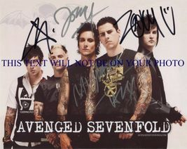 AVENGED SEVENFOLD BAND SIGNED AUTOGRAPH 8x10 RP PHOTO BY ALL - $18.99
