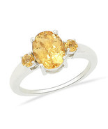 Party Wear Citrine Gemstone Shine Silver 925 Sterling Jewelry Ring US 7 ... - $11.29