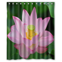 Pink Lotus Flower #02 Shower Curtain Waterproof Made From Polyester - $31.26+