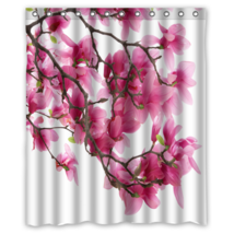 Pink Magnolia #01 Shower Curtain Waterproof Made From Polyester - $31.26+