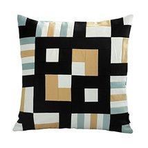 Black Temptation [Sudoku] Handmade Unique Grid Decorative Pillowcase 48CM - $21.16