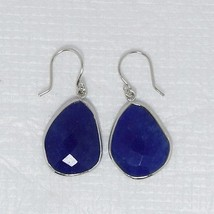Gorgeous 925 Sterling Silver Indian Sapphire Gemstone Earring Jewelry SHER0057 - $9.37