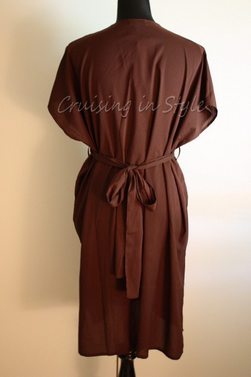 Gottex Gold NWT Brown Gottex Cimaron V-Neck Blouse Coverup Sarong Sz Small $278