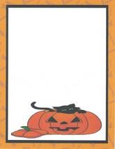 Halloween Black Cat In Jack O Lantern Stationery Printer Paper 26 Sheets - $9.89