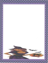 Halloween Sexy Witch & Bats Stationery Printer Paper 26 Sheets - $9.89