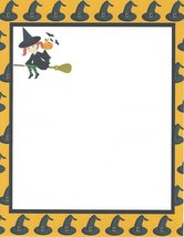 Halloween Flying Girl Witch Stationery Printer Paper 26 Sheets - $9.89