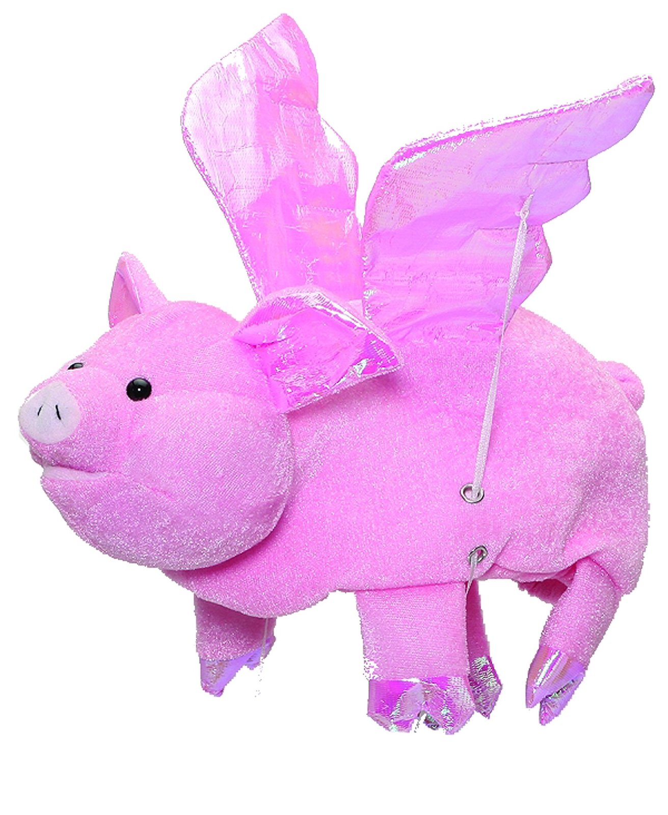 J21263 Flying Pig Hat With Flapping Wings